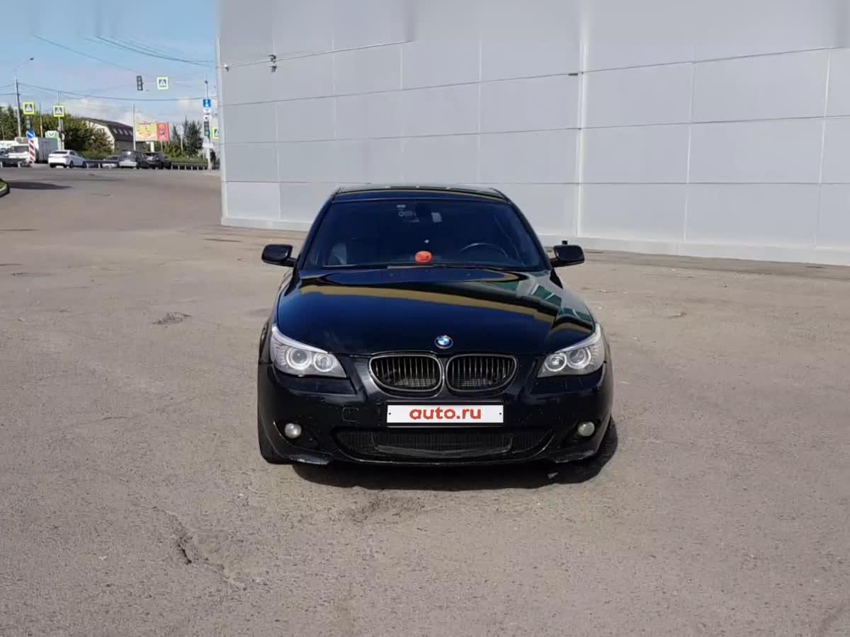 2009 BMW 5 серии  V (E60/E61) Рестайлинг 525i, чёрный, 720000 рублей