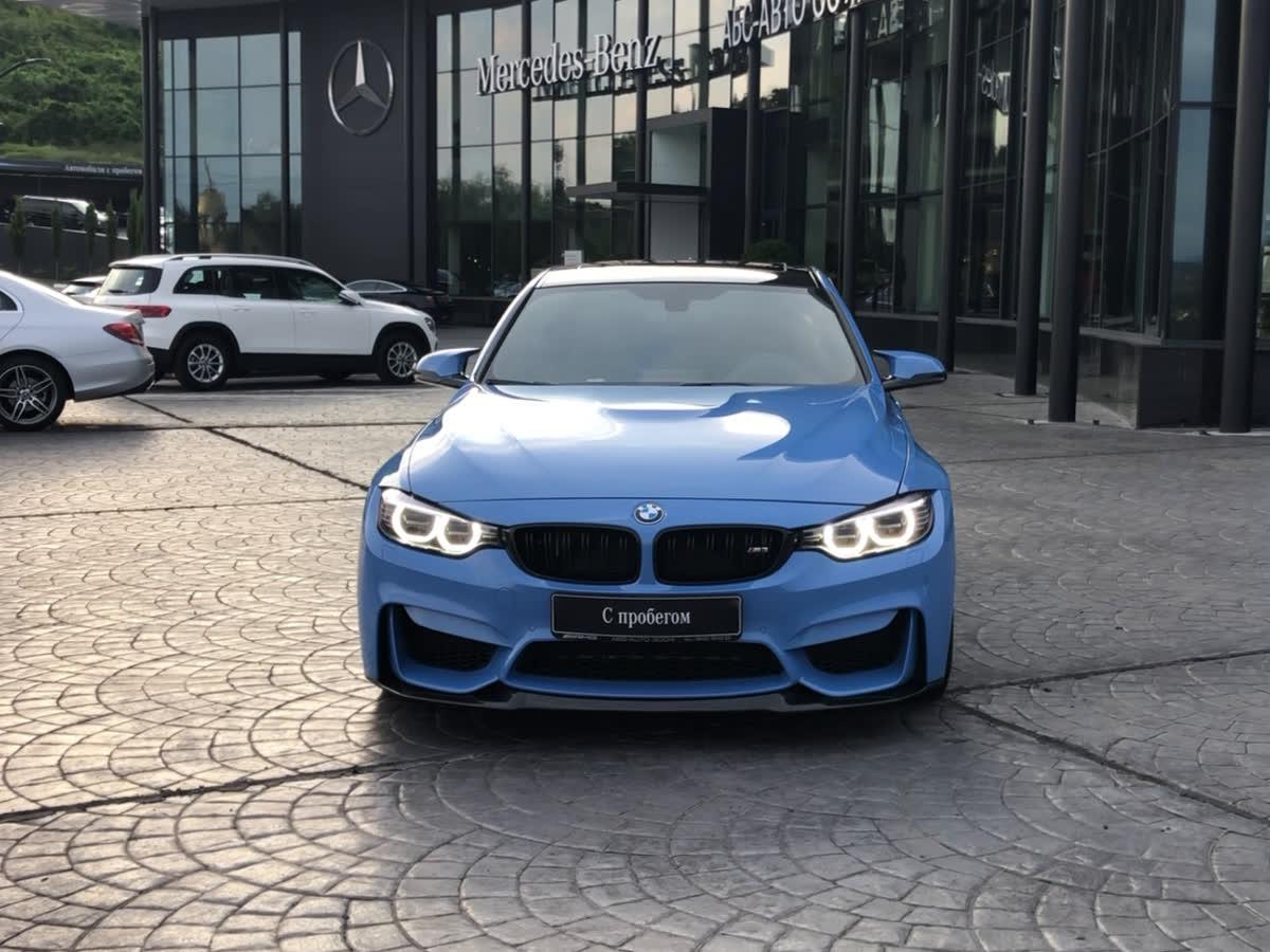 2015 BMW M3 V (F80), голубой, 3200000 рублей
