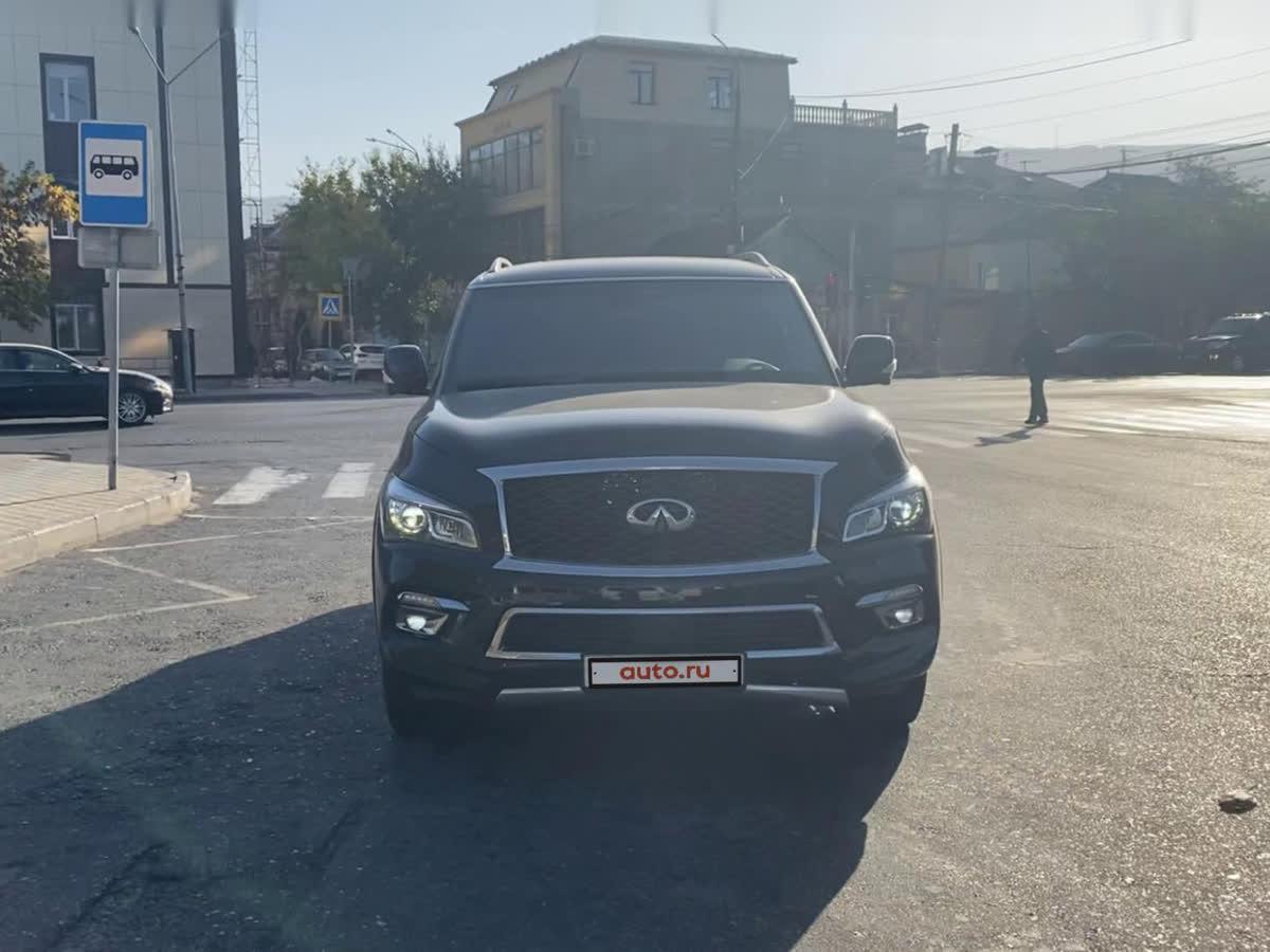 2017 Infiniti QX80  I Рестайлинг, чёрный, undefined рублей