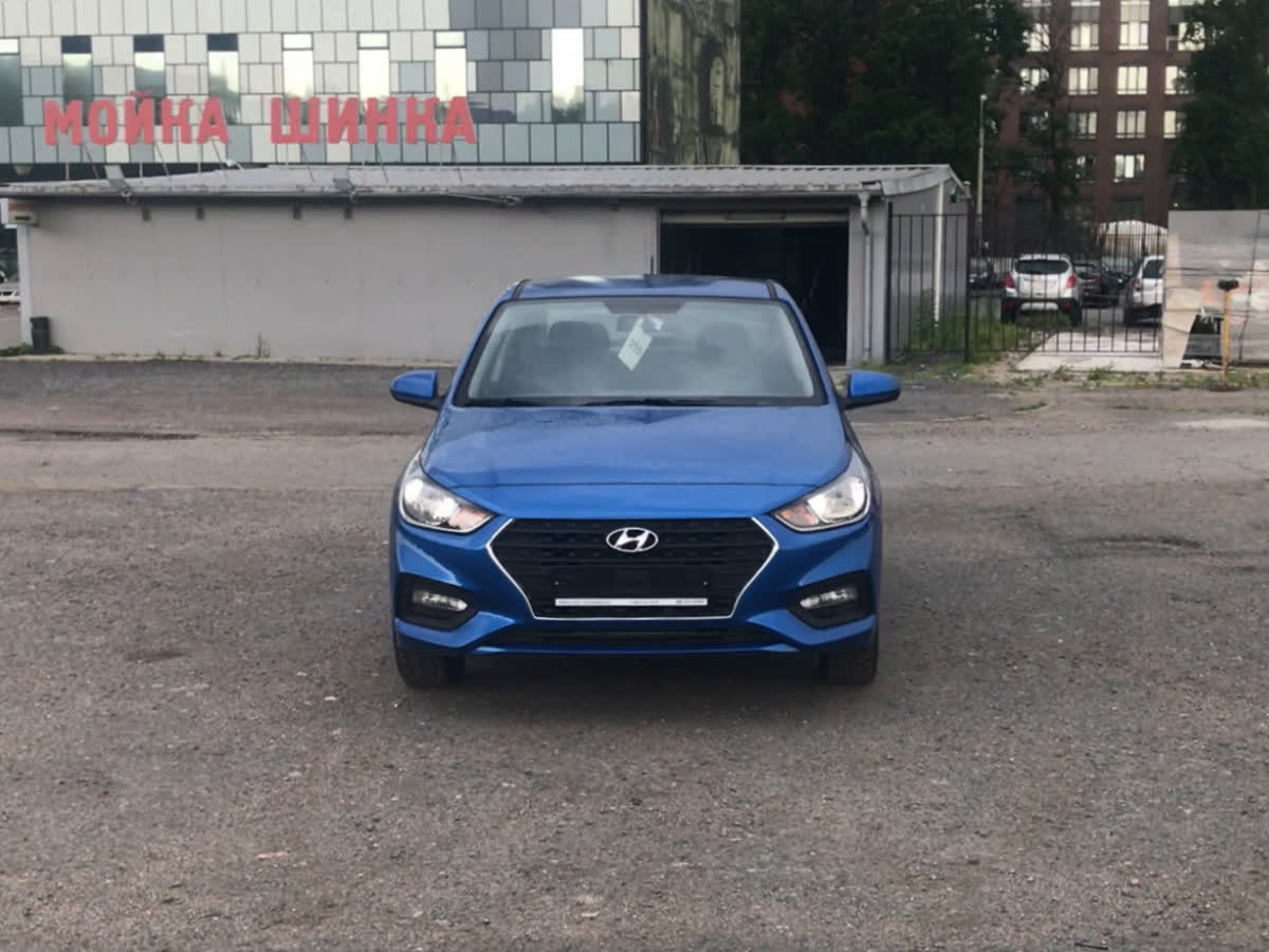 2019 Hyundai Solaris II, синий, 850000 рублей