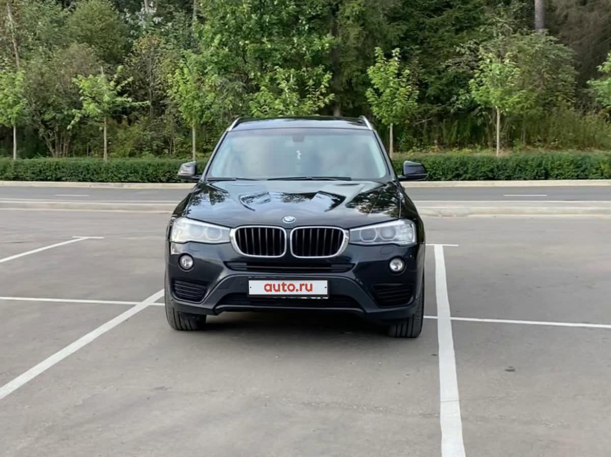 2015 BMW X3  II (F25) Рестайлинг 20d xDrive, чёрный, 1490000 рублей